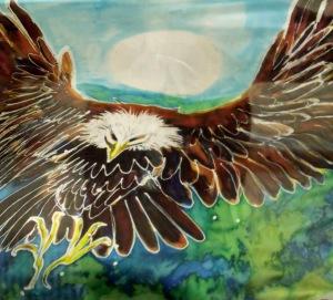 Eagle lands